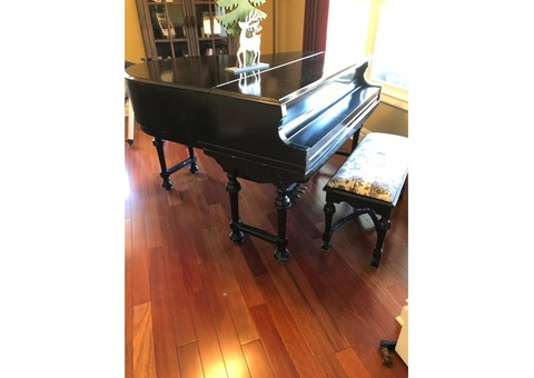 Vintage grand player piano