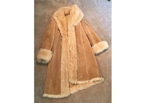Wilson Leather Coat with Fur Trim