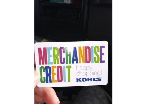 Kohls gift card for sale