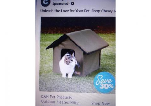Heated Indoor/Outdoor Cat House for Free